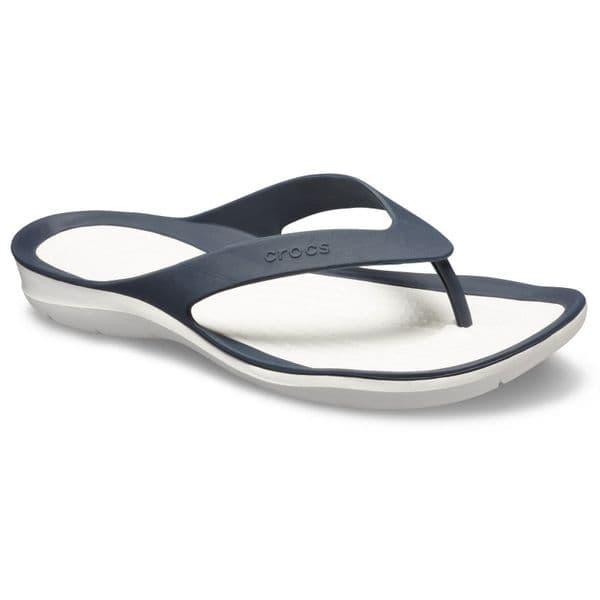 Crocs Swiftwater Flip Ladies Beach Navy/White